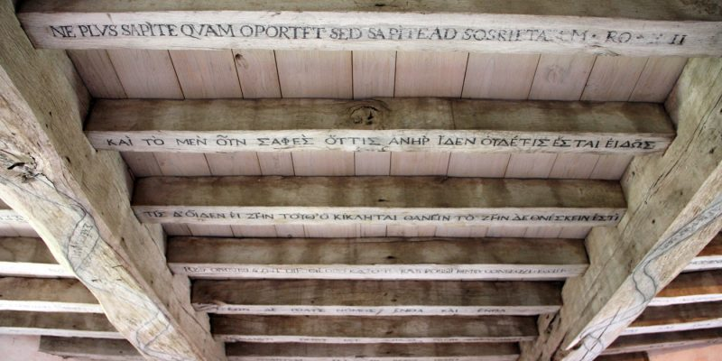 Michel de Montaigne: Self-Esteem and the Quotes on his Ceiling