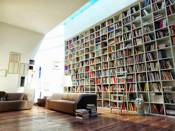 Large wall bookshelf