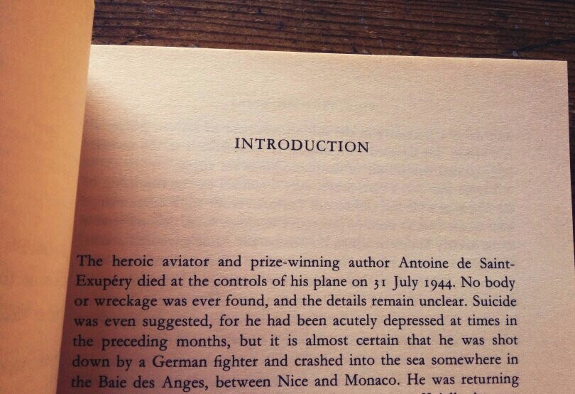 Antoine de Saint-Exupery's life and death