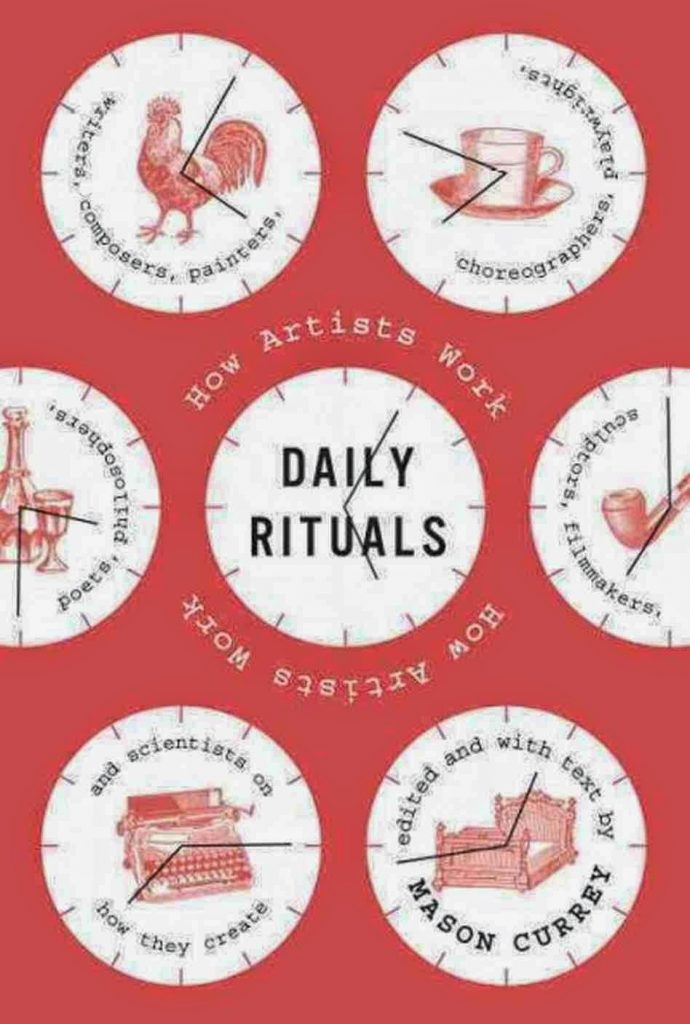 Daily Rituals by Mason Currey and coffee