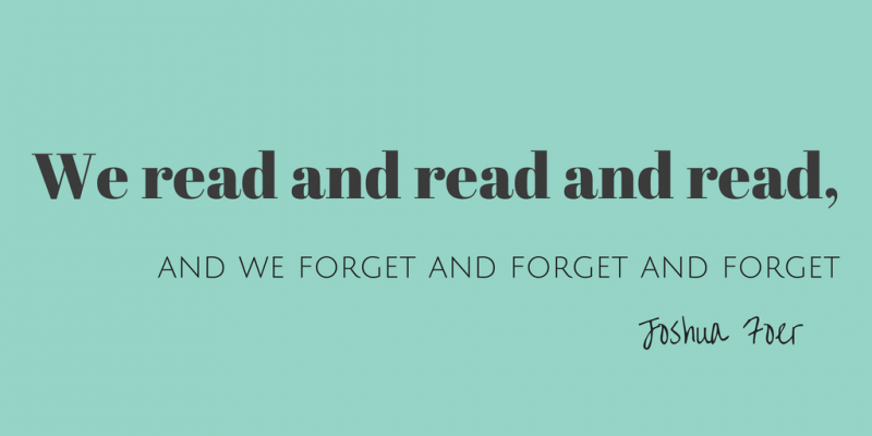 How Much Do You Really Remember About The Books You've Read?