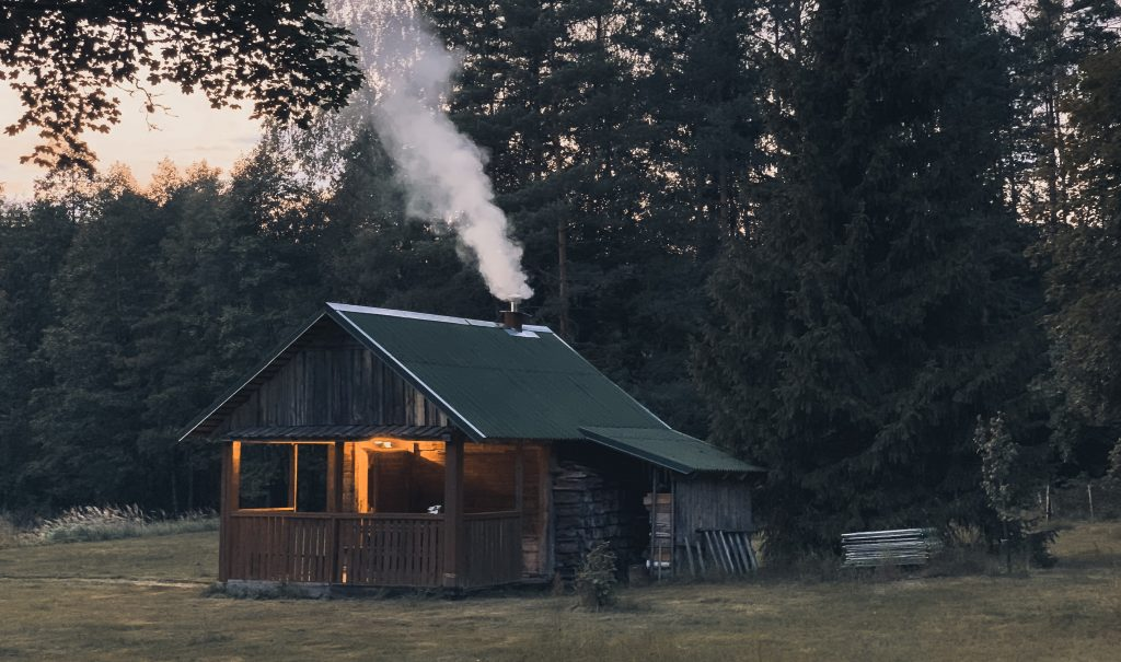 Cabin by the woods